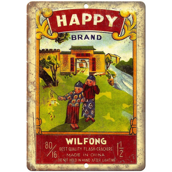 "Happy Brand Firework Package Art 10"" X 7"" Reproduction Metal Sign ZD88"