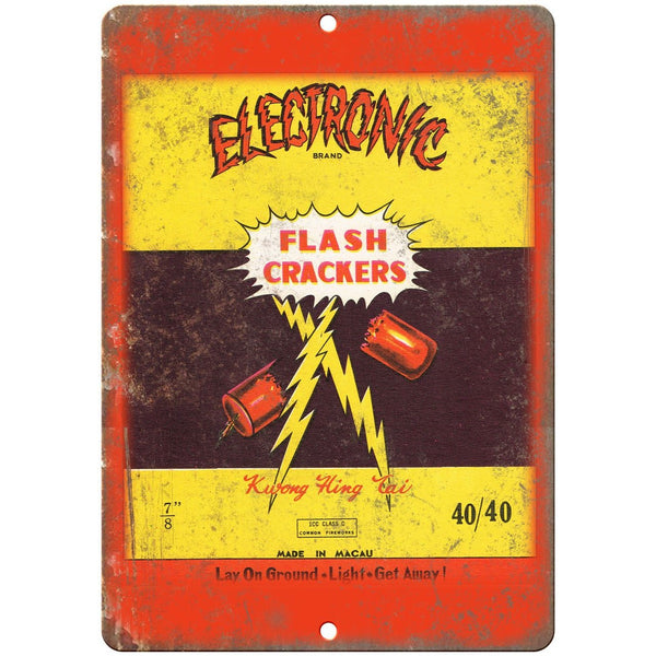 "Electronic Firecracker Package Art 10"" X 7"" Reproduction Metal Sign ZD98"