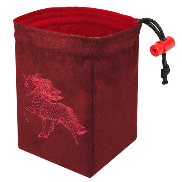 Dimensional Unicorn - Embroidered Dice Bag