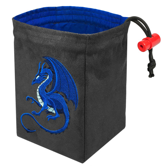 Fantasy Blue Dragon - Embroidered Dice Bag