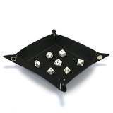 Felt Collapsible Dice Tray - Black