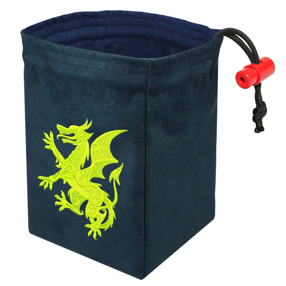Gilded Neon Dragon - Embroidered Dice Bag