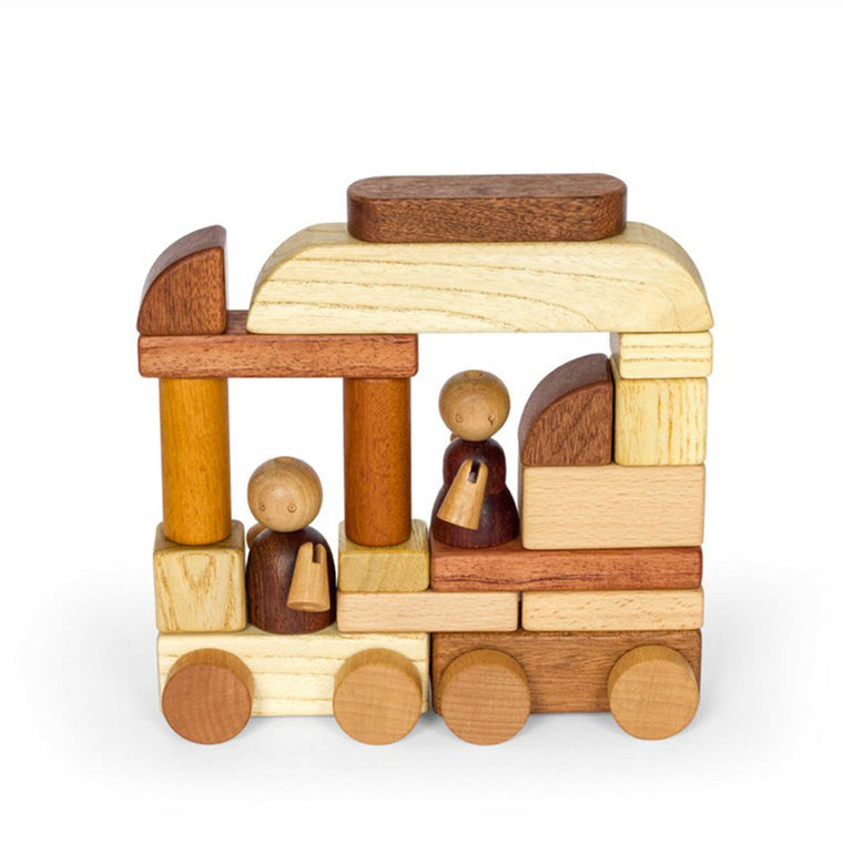 SOOPSORI Magnetic Wooden Cars & Block Set