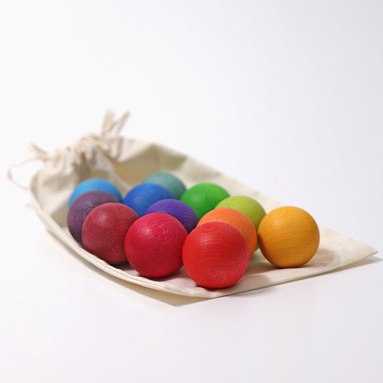 GRIMM'S | Wooden  Balls | Rainbow set of 12
