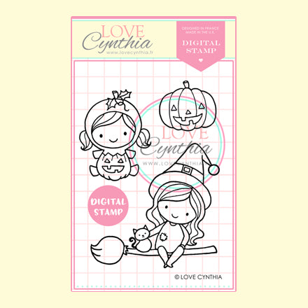 HALLOWEEN DIGITAL STAMP SET 1