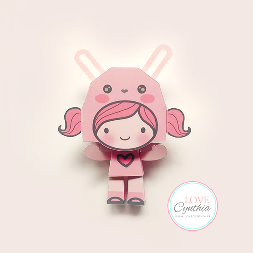 BUNNY LOVE -  Paper Happy Doll
