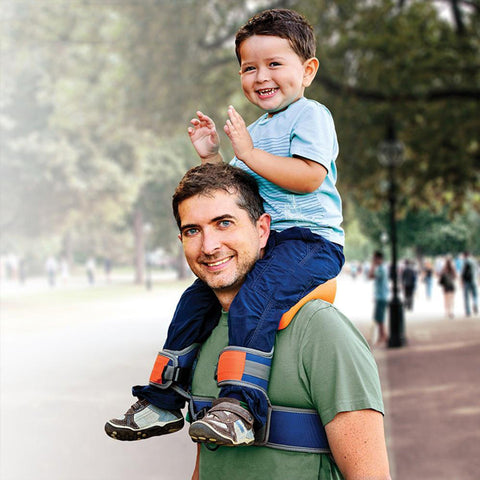 SaddleBaby Pro - Hands-Free Shoulder Carrier For Your Baby with Ankle Straps
