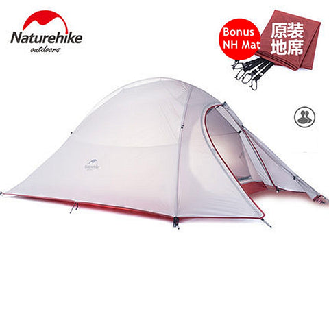 Ultralight Naturehike 2 Person Double-layers Camping Tent with Floor Mat