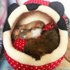 Image of Pet Dog Cat Bed Warm Soft Sleeping Bag Cuddly Cave