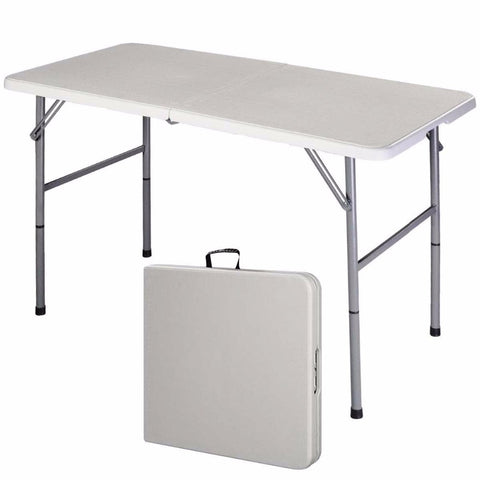 Foldable Utility Table - Portable & Height Adjustable Folding Utility Table