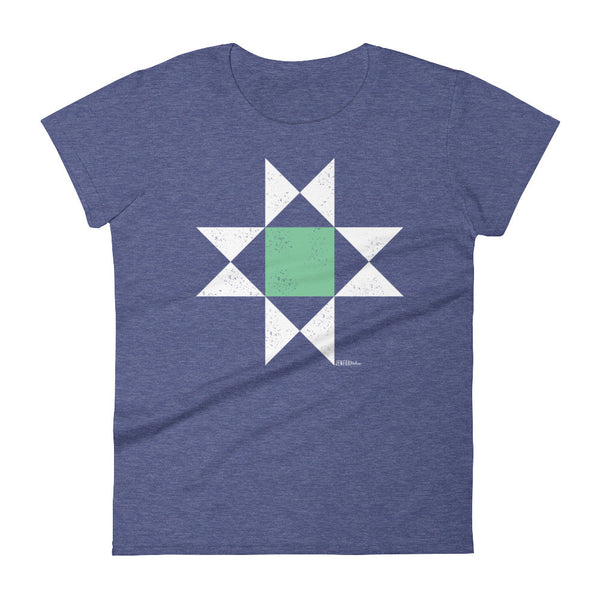 Ohio Star Quilt Block Tee - Women's short sleeve t-shirt