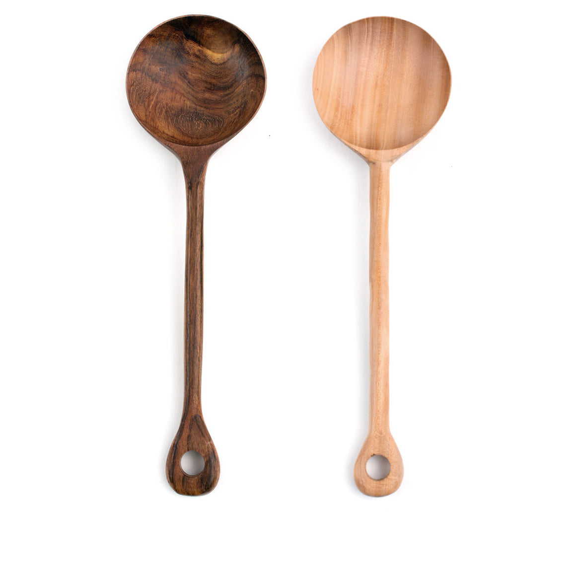 Mahogany or Shesham Serving Spoon
