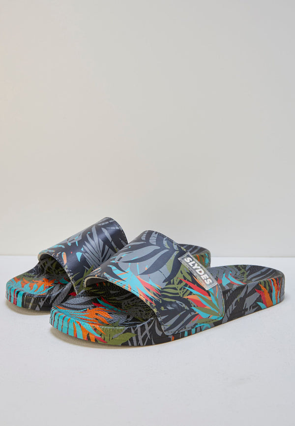 Slydes - Cyber Dark Men's Multi Print Sliders - The Worlds Best Sliders & Sandals