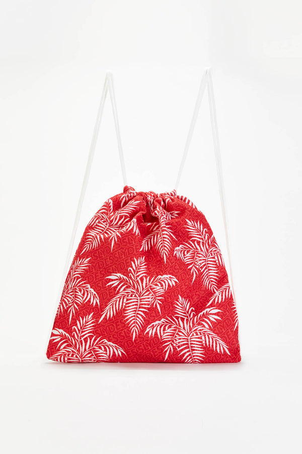 Slydes - Noise Red Beach Towel Drawstring Bag - The Worlds Best Sliders & Sandals