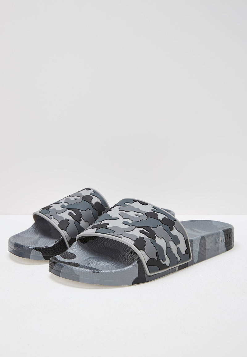Slydes - Loco Men's Grey Camo Sliders - The Worlds Best Sliders & Sandals