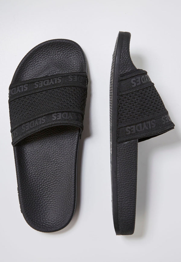 Slydes - Domo Men's Black Sliders - The Worlds Best Sliders & Sandals