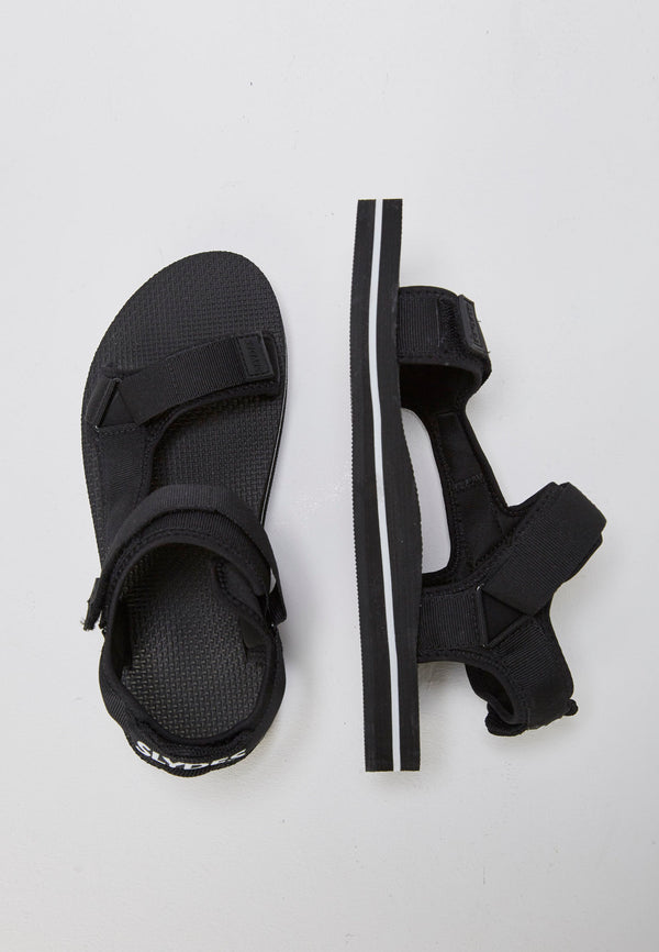 Slydes - Nevis Men's Black/White Sandals - The Worlds Best Sliders & Sandals