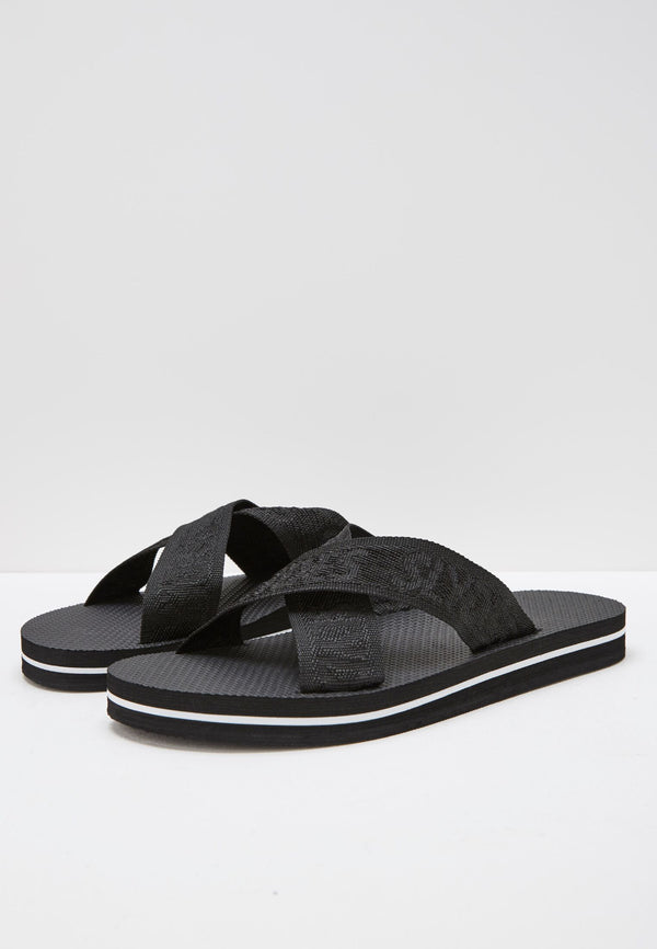 Slydes - Warp Men's Black Sliders - The Worlds Best Sliders & Sandals