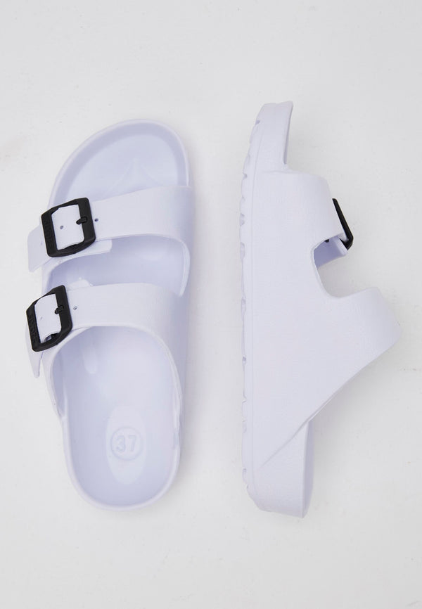 Slydes - Watson Women's White Sliders - The Worlds Best Sliders & Sandals