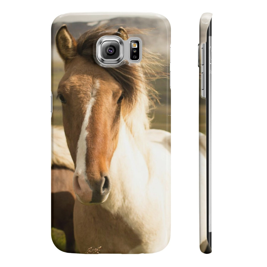Must Love Horses - Pinto Icelandic Horse Phone Case (Samsung Galaxy S6 Slim)