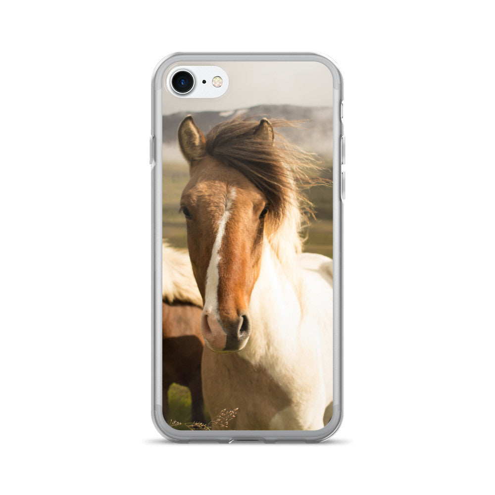 Must Love Horses - Pinto Icelandic Horse - iPhone Case (for 7 and 7 Plus)