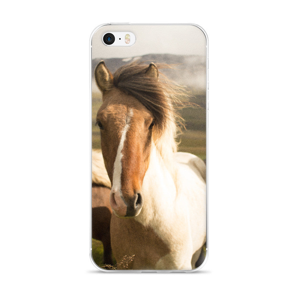 Must Love Horses - Pinto Icelandic Horse - iPhone Case (for 5, 6 and 6 Plus)