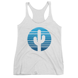 Heather White Moonrise Tank Top by Cactus Goods