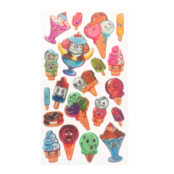 Ice Cream Friends Dimensional Stickers