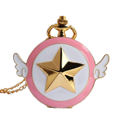 Japanese Cardcaptor Sakura Pocket Watch Necklace