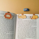 BM003 - Cute Wooden Magnetic Bookmark - Tiger, Lion, Leopar