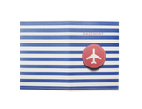 PP024 - Slim Passport Cover - Blue Stripe