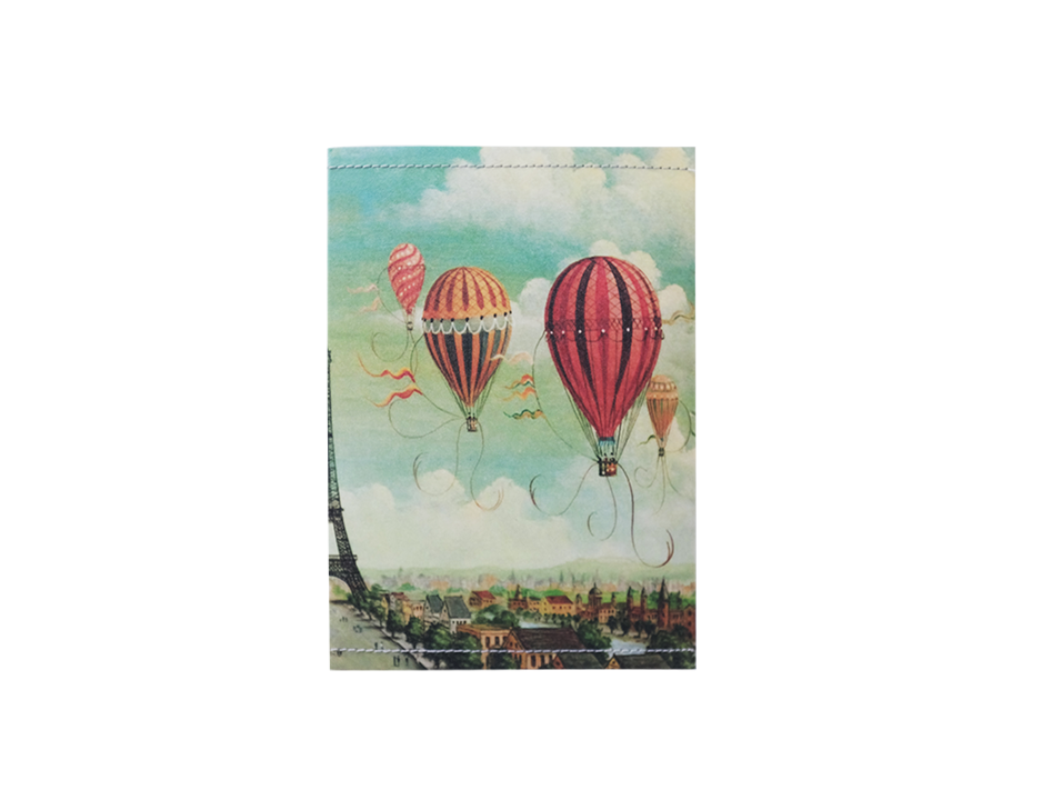 PP046 -Slim Passport Cover - Air Balloon Passport Case