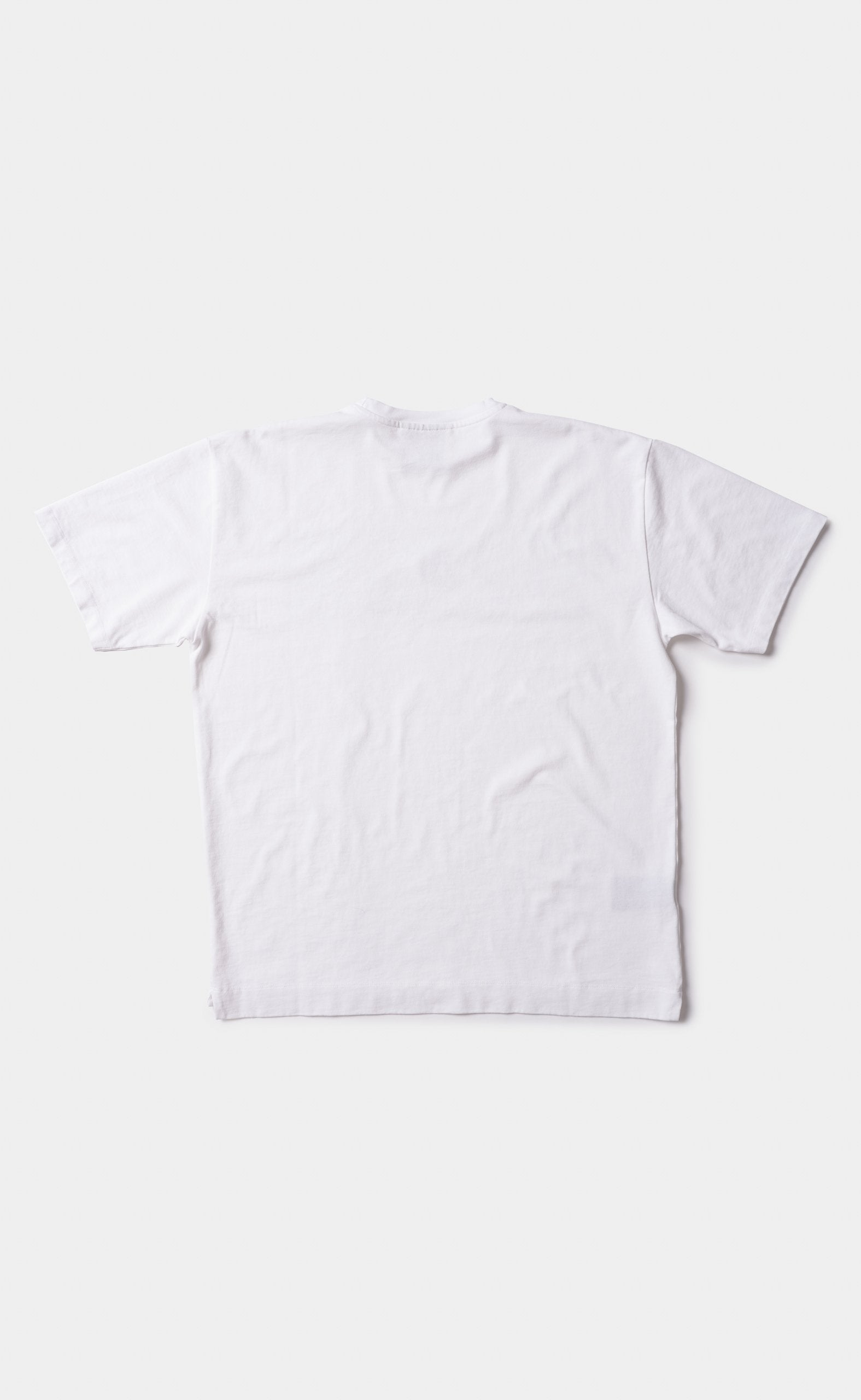 Graphic Tee White - Mountain Grid