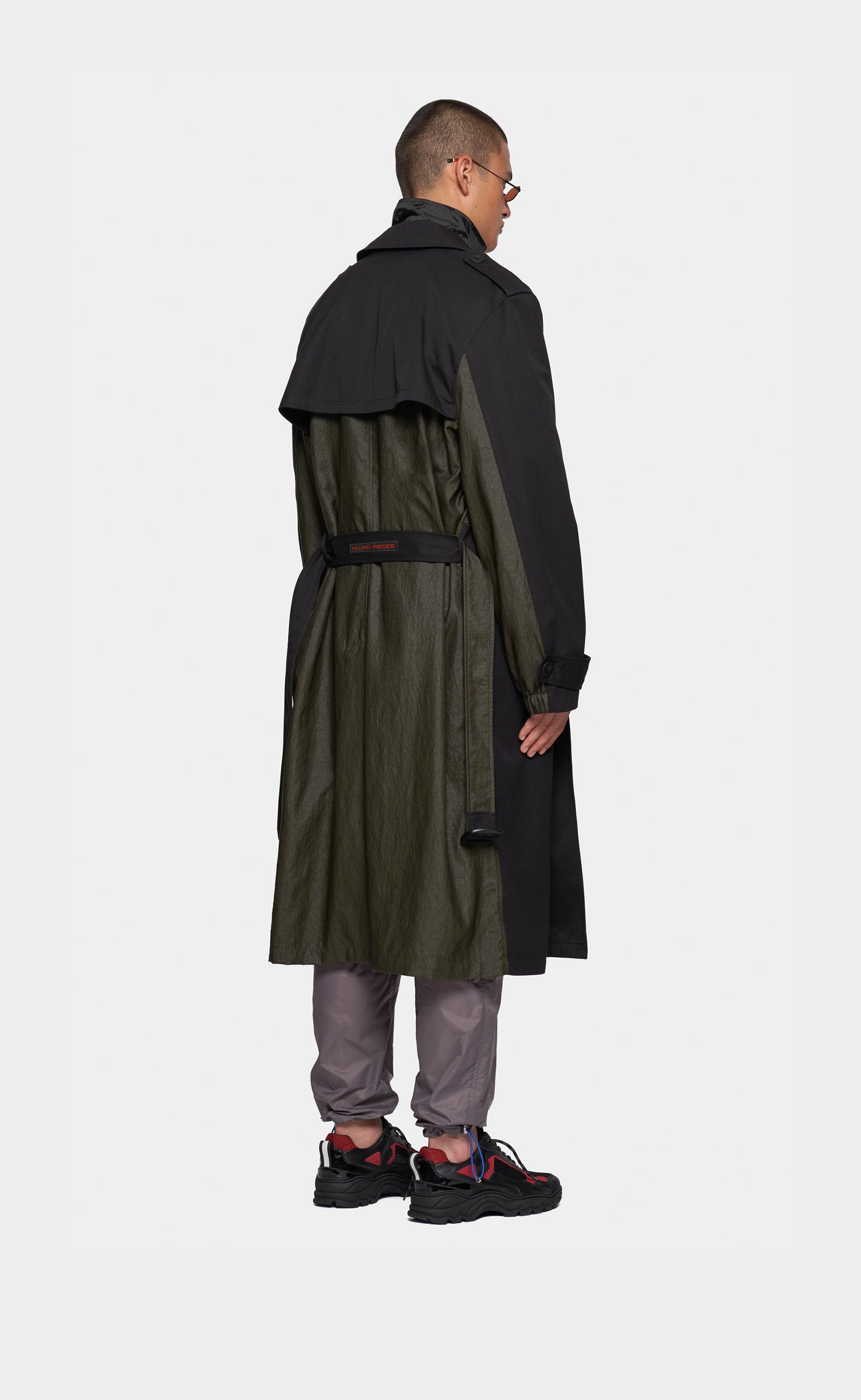 Trench Coat Black/Green
