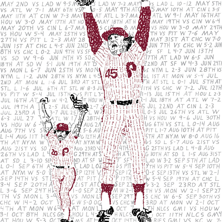 1980 Philadelphia Phillies World Series Wall Art
