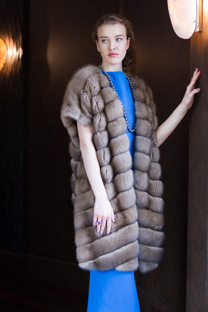 Russian Barguzin Sable Fur Vest