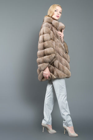 Russian Barguzin Sable Fur Poncho