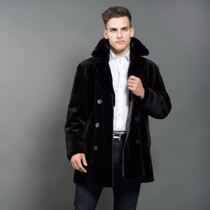 Shaved Black Mink Coat