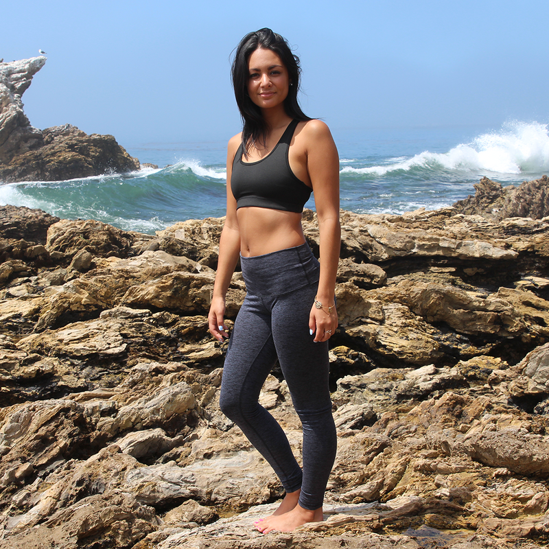 The Message Yoga Pants offers great support and coverage with a cool, smooth feel.  These high-rise, cross-sport pants have you covered in all the right places.   Fold over the waistband to reveal your message.