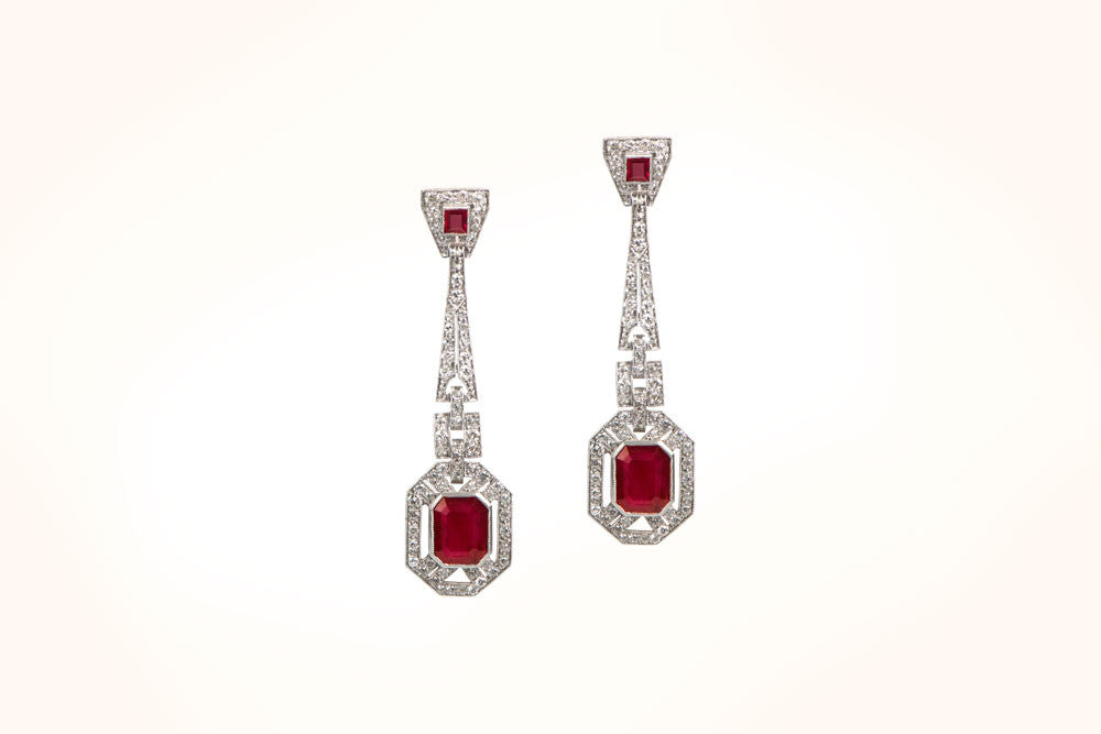 Burma Ruby Earrings