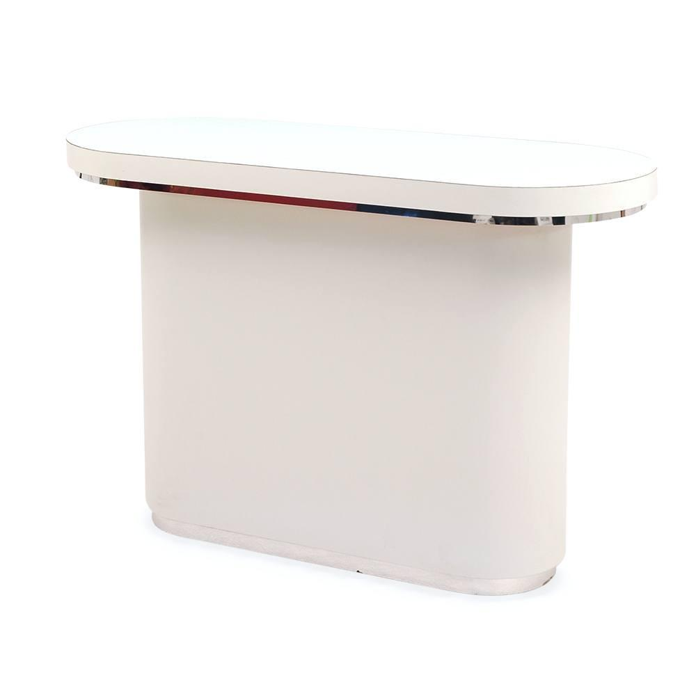 White and Chrome Oval Counter