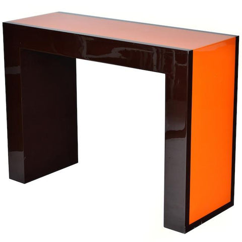 Brown and Orange Console Table