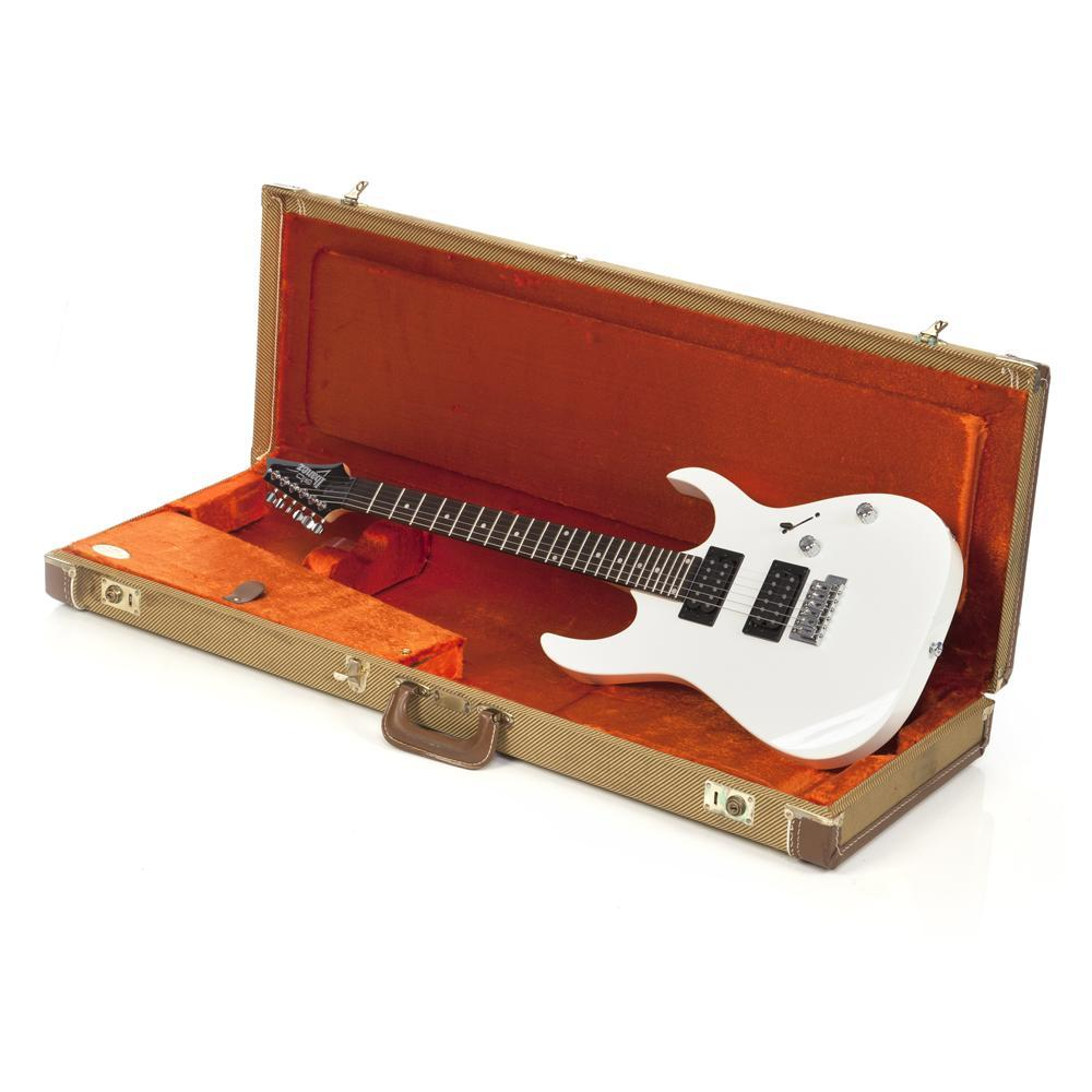White Electric Guitar and Case