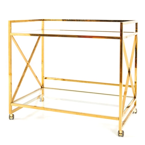 Art Deco Gold Alcohol Cart