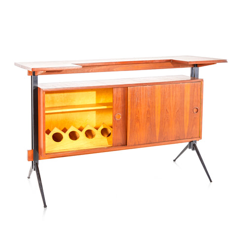 Mid-Century Wood Bar