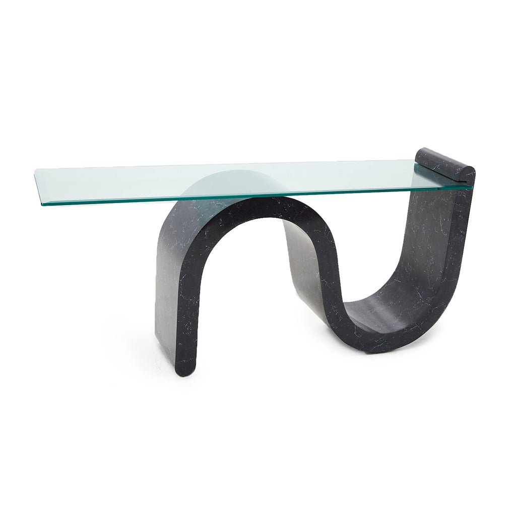Black 1980s Console Table