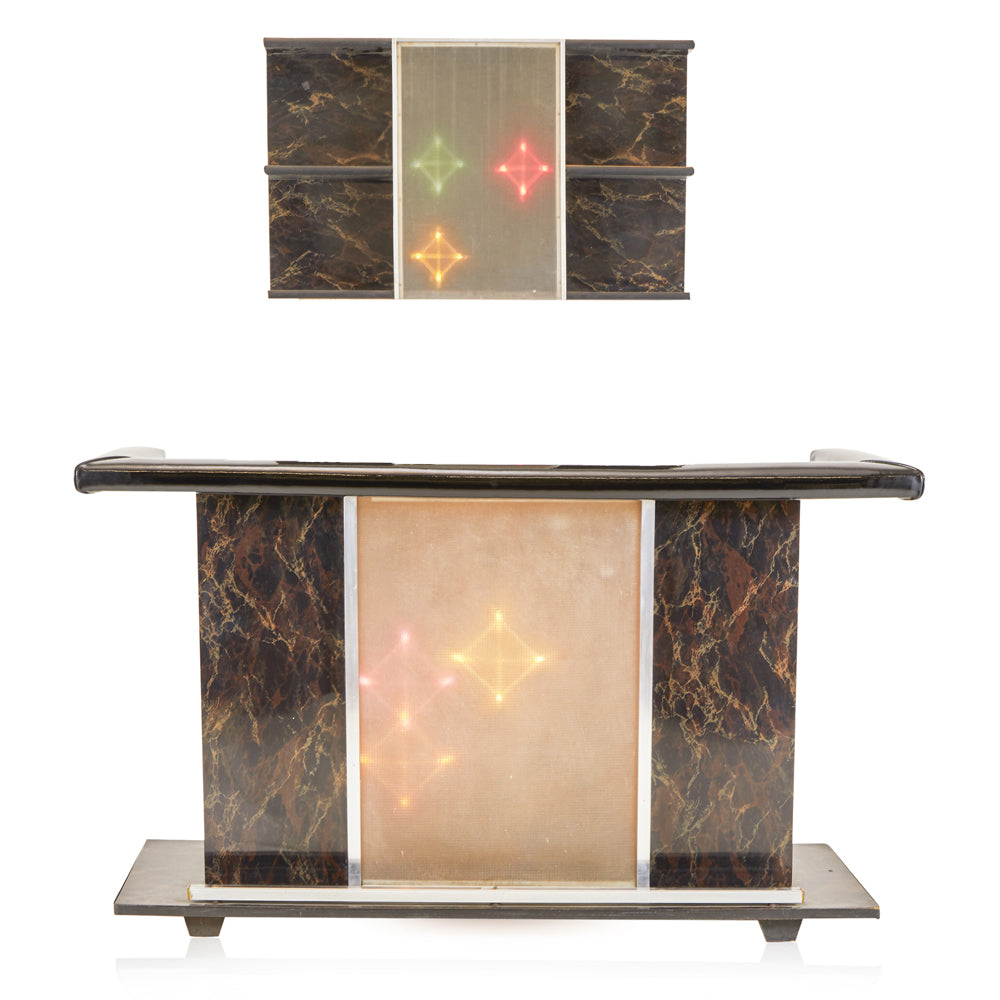 Marbled Light Up Bar Set