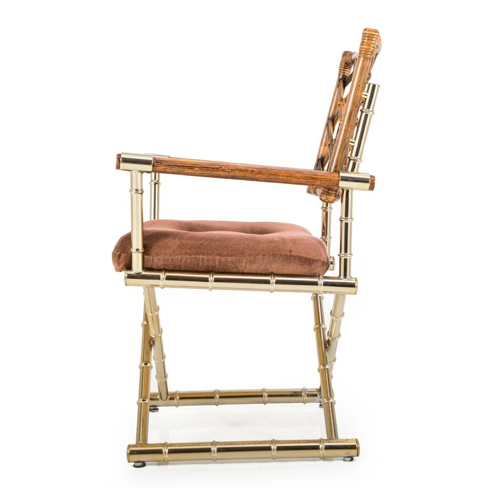 Bamboo Style Gold Chair