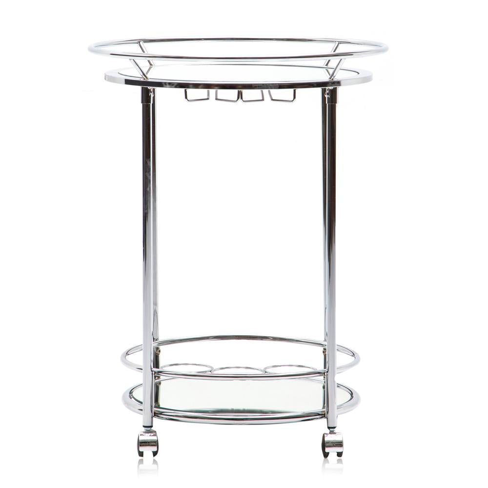 Chrome Round Bar Cart