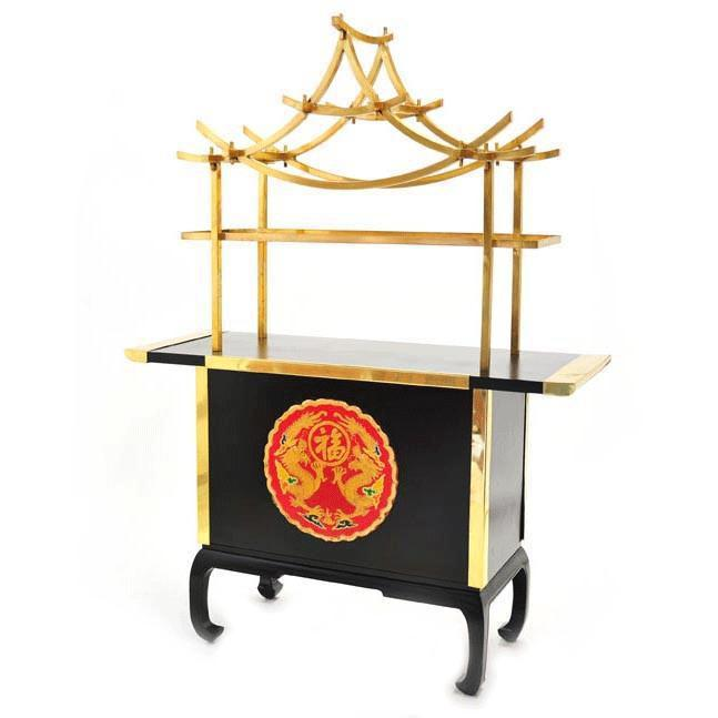 Black and Gold Asian Bar
